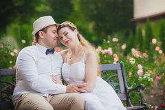 Love wedding couple Stock Photos