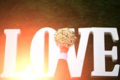 Love wedding flowers Stock Photography