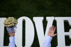 Love wedding flowers Royalty Free Stock Photography