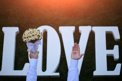 Love wedding flowers Stock Images