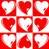 Love wedding hearts background chess royalty free stock photography