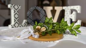 Love and wedding ring. The Love and wedding ring royalty free stock photo