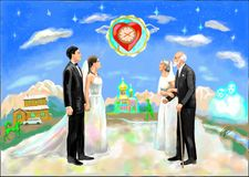 The true love for a lifetime royalty free illustration