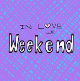 In love with weekend word illustration Stock Photography