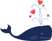 Love whale Royalty Free Stock Photography