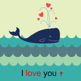 Love whale Royalty Free Stock Photo