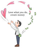 Love what you do will make you rich Stock Photography