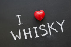 Love whisky Stock Photography