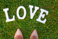 Love white sign Royalty Free Stock Photography