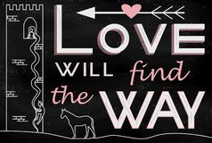 Love will find the Way royalty free illustration
