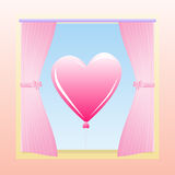 Love Window Royalty Free Stock Image