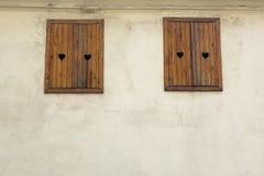 Love windows stock image