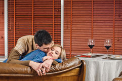 Love and wine Royalty Free Stock Images
