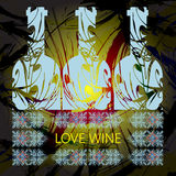 Love wine and tasting card Stock Images
