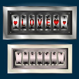 Love wins, slot machine. Vector. Slot machine Valentines day Royalty Free Stock Photos