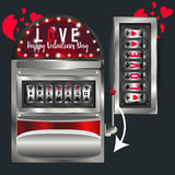 Love wins, slot machine. Vector. Slot machine Valentines day Royalty Free Stock Image
