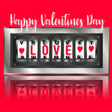 Love wins, slot machine. Vector. Slot machine Valentines day royalty free illustration