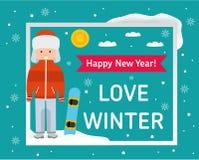 Love winter card. Stock Photos