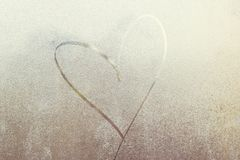 Love in the winter. Feast on February 14 Royalty Free Stock Photos