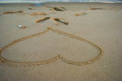 The love wish on the Seaside and beach stock photo