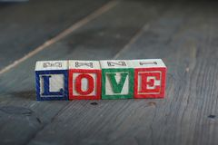 Love wood blocks Royalty Free Stock Photo