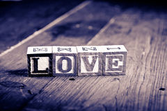 Love wood blocks Royalty Free Stock Images