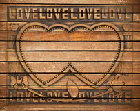 Love wood frame Royalty Free Stock Photos