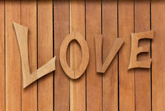 Love on the wood Royalty Free Stock Image