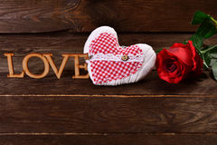 Love wooden background Royalty Free Stock Image