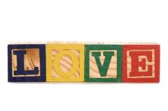 Love wooden blocks Stock Photo