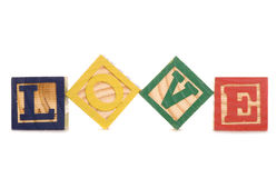 Love Wooden Blocks Royalty Free Stock Images