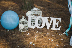 Love - wooden inscription Stock Photography