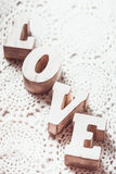 Love wooden letters Stock Images