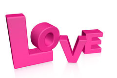 Love word 3d Stock Image