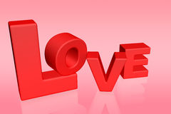 Love word 3d Royalty Free Stock Photos
