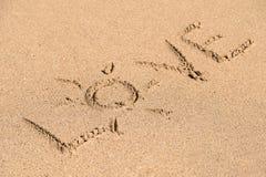 Love Word On Beach Sand Stock Photo