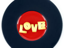 Love word, biscuit cookies letters Stock Photos