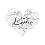 Love ,Word cloud art background.  Royalty Free Stock Image