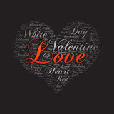 Love ,Word cloud art background.  Stock Image
