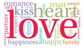 Love Word Cloud. On a white background Royalty Free Stock Photo