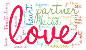 Love Word Cloud. On a white background Stock Image