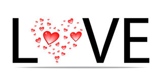 Love word design. Vector illustration Royalty Free Stock Image