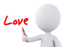 Love word drawn by white people. Love concept Royalty Free Stock Photo