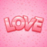 Love word on heart background Stock Photos