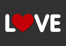 Love word with heart icon Stock Image