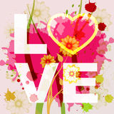 Love Word Indicates Compassionate Affection And Loved. Love Word Representing Heart Lovers And Passion Royalty Free Stock Image