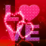 Love Word Indicates Fondness Tenderness And Loving. Love Word Representing Lover Dating And Loved vector illustration