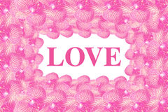 Love word inside flower frame Royalty Free Stock Photography