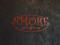 Love word italian language Royalty Free Stock Image