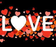 Love Word Means Affection Compassionate And Fondness. Love Word Representing Lovers Tenderness And Loving stock illustration